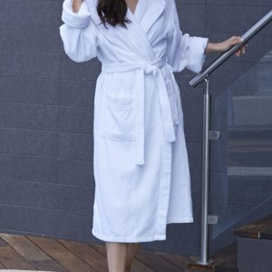 Mansfield HOODED TERRY VELOUR robe